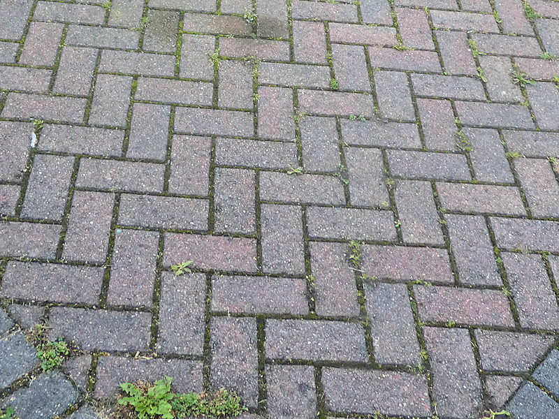 block paving before treatment