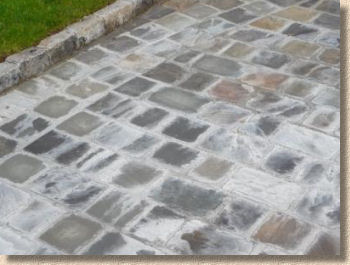 cement stained setts