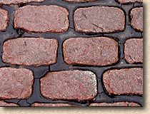 red granite setts