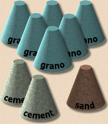 grano mix with sand