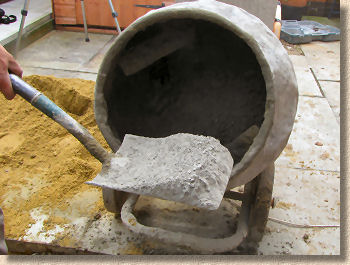 mixing add cement