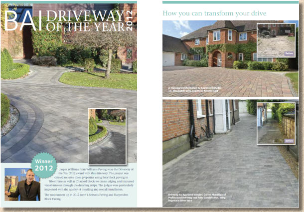 award winning driveways