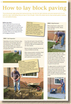 how to install block paving