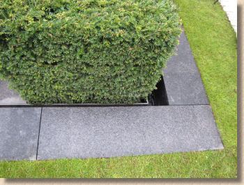 black granite mowing strip