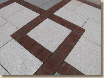 vande moortel clay pavers with granite flagstones
