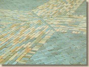 melange clay pavers