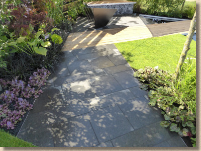 flamed granite paving