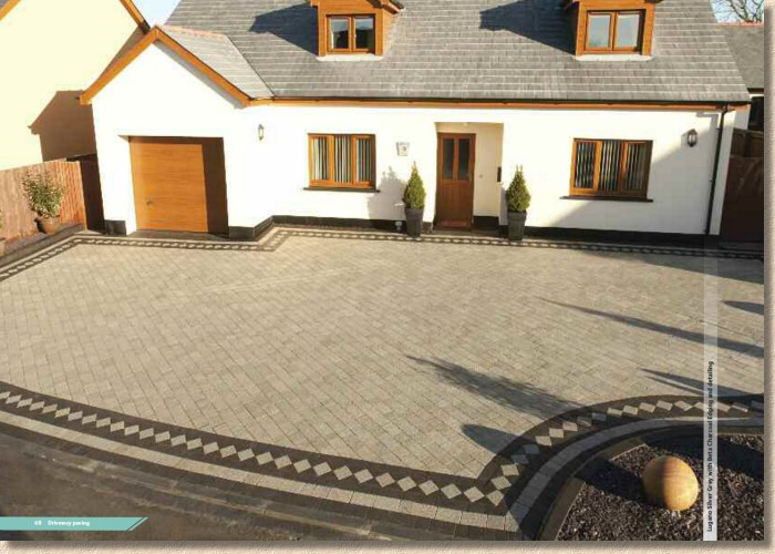lugano block paving with harlequin edge course
