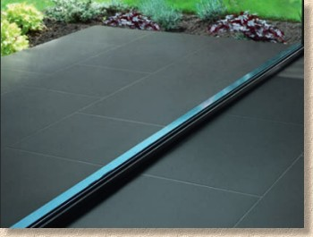symphony black porcelain paving