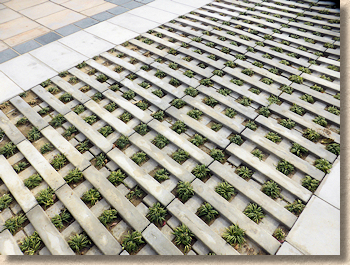 wet cast permeable paving system