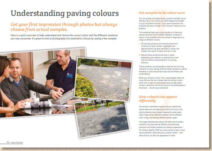 Understanding paving colours