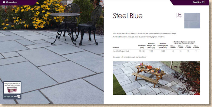 Steel Blue Flagstones
