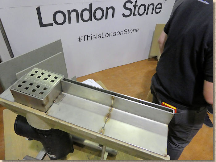 Stainless steel linear channel from London Stone