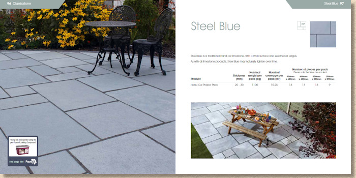 Steel Blue limestone flags