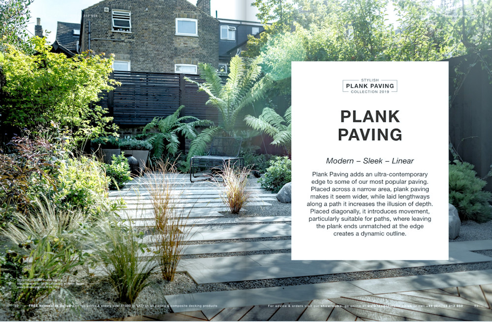 stunning large image of plank paving