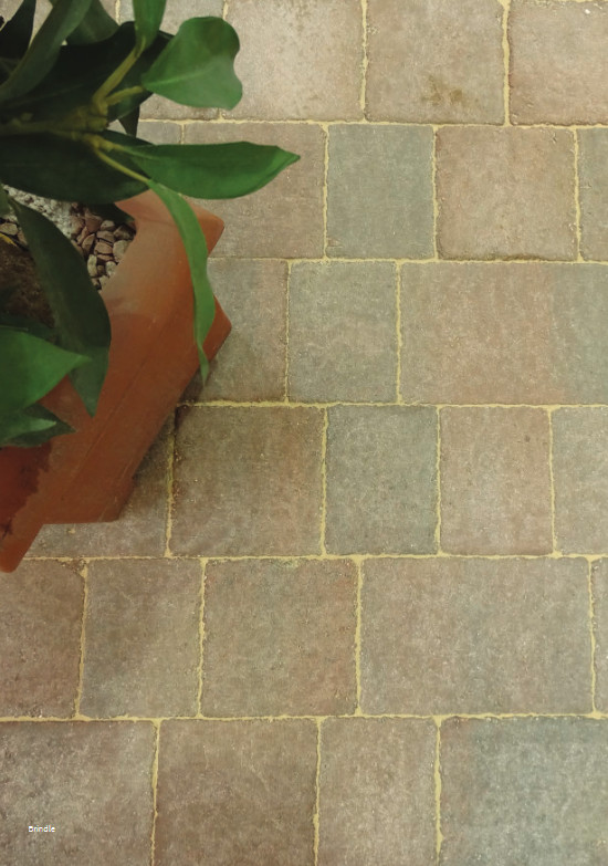 castacrete aged-effect block paving