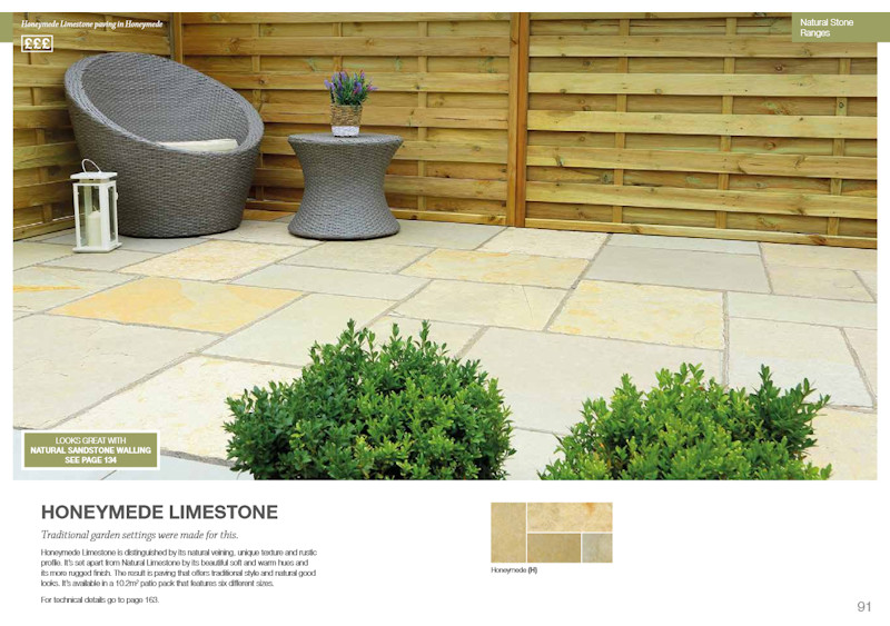 bradstone honeymede paving