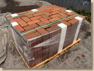 clay pavers in pack