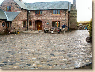 reclaimed sett paving