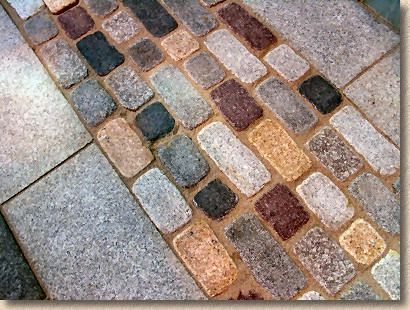 tumbled granite setts