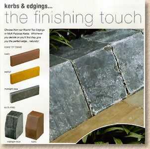 natural stone kerbs and edgings
