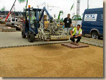 Machine lay block paving