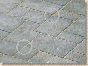 crossed joints in cruciform paving