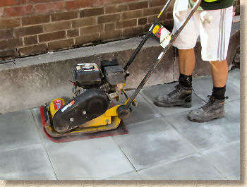 compacting the paving