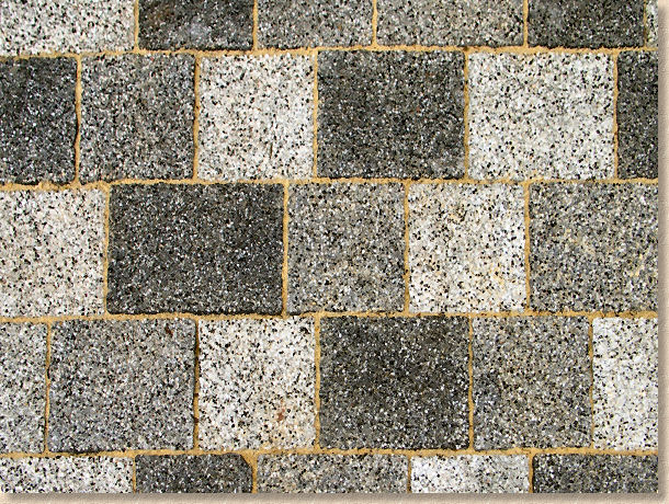 granite like block paving