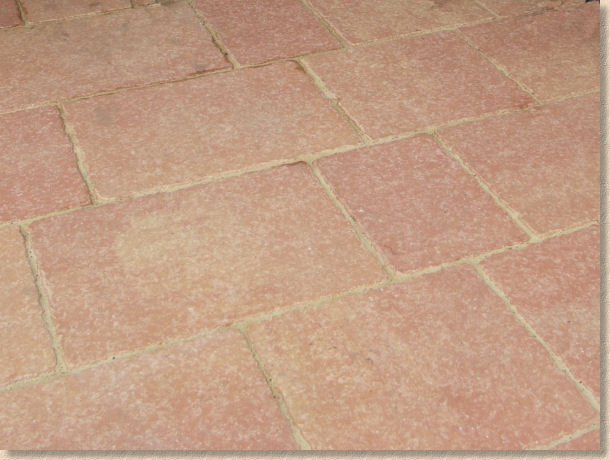 terracotta flag paving