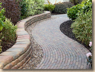 retro pavers with secura minor walling