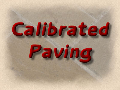 calibrated paving