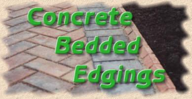 concrete bedded edgings