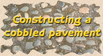 construction with cobbles