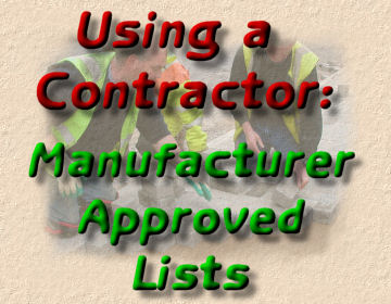 manufacturer approved contractors