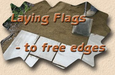 laying flags to free edges