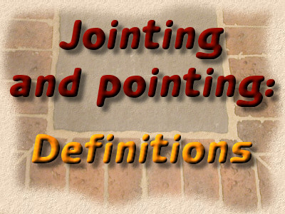 jointing and pointing definitions