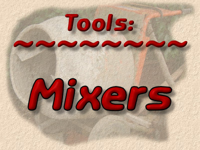mixers for mortar and concrete