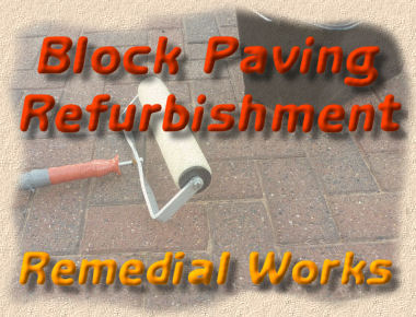 block paving refurbishment - remedial works