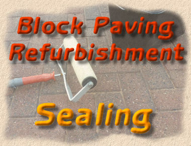 block paving refurbishment - sealing