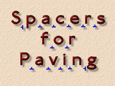 spacers for paving