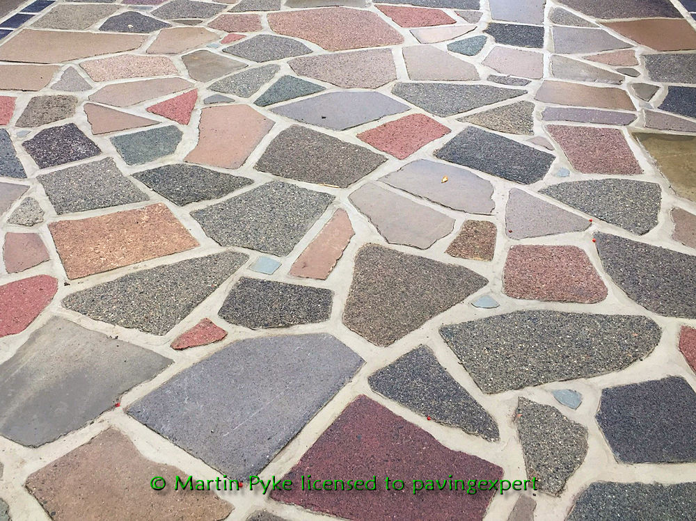 crazy paving concrete slabs multicoloured