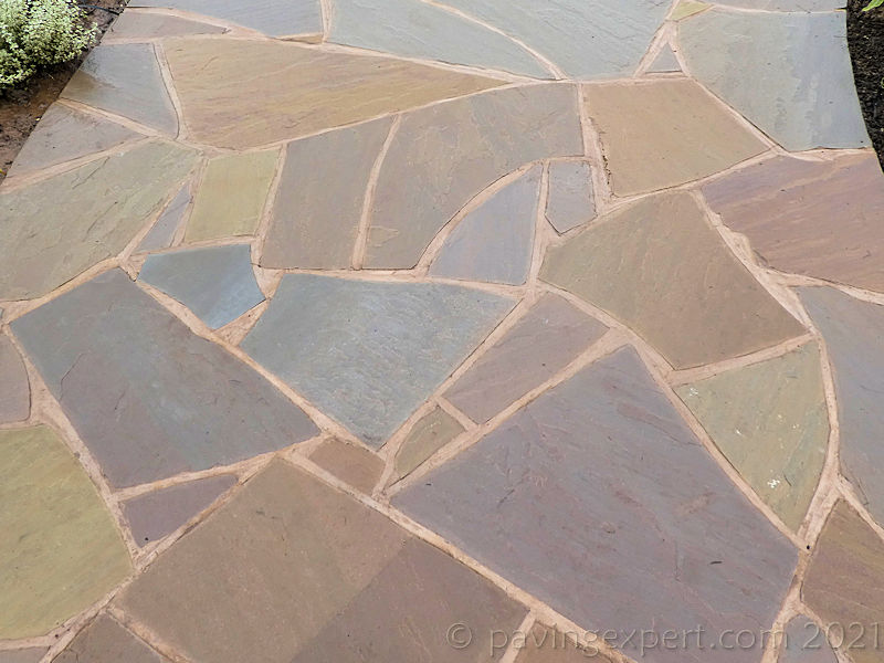 crazy paving using indian sandstone