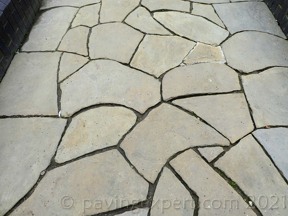 trimmed crazy paving in Hull