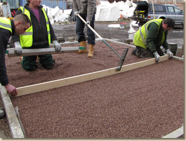 screed laying course