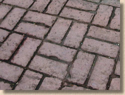 basketweave brick concrete