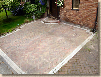 acrylic sealed paving