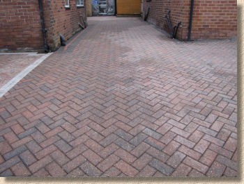 cleaned paving