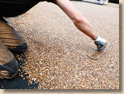 trowelling resin bound surfacing