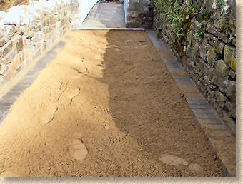 sand levelled